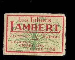 """*TABAC - LAMBERT*  ."""" étiquette Boite D'Allumette / Label Matchboxe"""" - Boites D'allumettes - Etiquettes"""