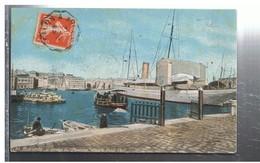 CPA-13-1912-MARSEILLE-LE SERVICE DU PASSAGE DANS LE VIEUX PORT-ANIMEE-PERSONNAGES-BATEAUX -VOIR CACHETS - Vieux Port, Saint Victor, Le Panier