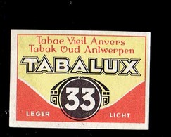 """*TABAC - TABALUX*  ."""" étiquette Boite D'Allumette / Label Matchboxe"""" - Boites D'allumettes - Etiquettes"""