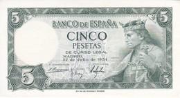 BILLETE DE 5 PTAS DEL AÑO 1954 SERIE K DE ALFONSO X EN CALIDAD EBC (XF) (BANKNOTE) - [ 3] 1936-1975 : Régimen De Franco