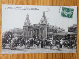 CPA  Le Tréport Le Casino Municipal Direction Pontié Vers 1910 Date Illisible Sur Tampon - Le Treport