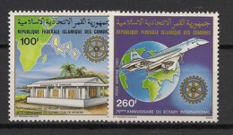 Comores - 1980 - N°Yv. 180 à 181 - Rotary / Concorde -Neuf Luxe ** / MNH / Postfrisch - Concorde