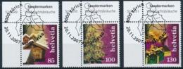Zumstein 1254-1256 / Sauber Gestempelte Eckrandstücke Mit ET-Vollstempel - Switzerland
