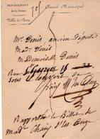 VP14.835 - Ville De PARIS - LAS - Lettre Autographe Mr G.L. CHAIX D'ESTE - ANGE ( Avocat Et Homme Politique ) - Autographes