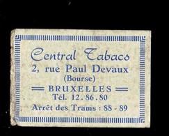 """*TABAC - CENTRAL TABACS*  ."""" étiquette Boite D'Allumette / Label Matchboxe"""" - Boites D'allumettes - Etiquettes"""