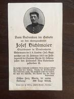 Sterbebild Wk1 Ww1 Bidprentje Avis Décès Deathcard LIR2 SOMME PY SOUAIN Block 2 Grab 69 Aus Wendenheim - 1914-18