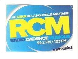 AUTOCOLLANT STICKER RCM RADIO CADENCE MUSIQUE AU COEUR DE LA NOUVELLE AQUITAINE - Stickers