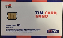 Paco \ ITALIA \ TIM \ IT-TIM-GSM-0017 C ? ( Con Numero) \ TIM Card NANO - Italia