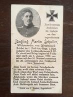 Sterbebild Wk1 Ww1 Bidprentje Avis Décès Deathcard 1. Fuss AR 1. Januar 1918 Aus Mettenbach - 1914-18