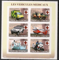 Comores - 2008 - N°Yv. 1219 à 1224 - Croix Rouge - Non Dentelé / Imperf. - Neuf Luxe ** / MNH / Postfrisch - Croix-Rouge