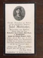 Sterbebild Wk1 Ww1 Bidprentje Avis Décès Deathcard IR3 CERNY EN LAONNOIS Aus Höhltal - 1914-18