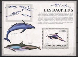 Comores - 2009 - Bloc BF N°Yv. 158 - Dauphins - Neuf Luxe ** / MNH / Postfrisch - Cote YT 21€ - Dauphins