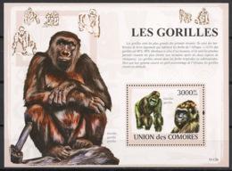 Comores - 2009 - Bloc BF N°Yv. 160 - Gorilles - Neuf Luxe ** / MNH / Postfrisch - Cote YT 21€ - Gorilles