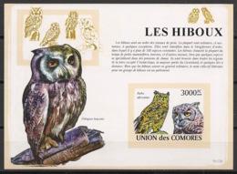 Comores - 2009 - Bloc BF N°Yv. 161 - Hiboux - Non Dentelé / Imperf. - Neuf Luxe ** / MNH / Postfrisch - Cote YT 21€ - Hiboux & Chouettes