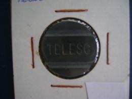 """BRAZIL - PUBLIC PHONE """" TELESC"""" (SANTA CATARINA) SHEET , TOKEN - Entriegelungschips Und Medaillen"""