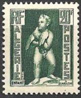 1952 Algérie N° 292a Nf** . RARE .  Papier Carton . Statue . Enfant à L'aiglon. - Neufs