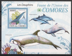 Comores - 2009 - Bloc BF N°Yv. 198 - Dauphins - Non Dentelé / Imperf. - Neuf Luxe ** / MNH / Postfrisch - Cote YT 21€ - Dauphins