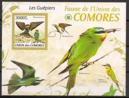 Comores - 2009 - Bloc BF N°Yv. 205 - Guépiers - Non Dentelé / Imperf. - Neuf Luxe ** / MNH / Postfrisch - Cote YT 21€ - Birds