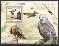 Comores - 2009 - Bloc BF N°Yv. 206 - Aigles - Non Dentelé / Imperf. - Neuf Luxe ** / MNH / Postfrisch - Cote YT 21€ - Eagles & Birds Of Prey