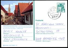 76327) BRD - P 124 E8/101 - OO Gestempelt 8641 - 8802 Wolframs-Eschenbach - Teilansicht - [7] Federal Republic