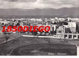 LATINA - PANORAMA CAMPO SPORTIVO F/GRANDE VIAGGIATA 1958 - Latina
