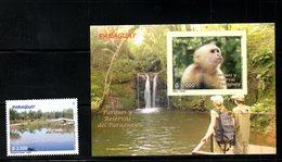 PARAGUAY,2007,  MONKEY, LAKE 1v+ M/S,MNH** - Unclassified