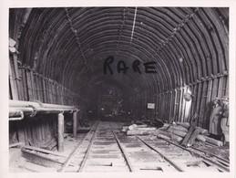PHOTO ANCIENNE,MINE,MINEUR,OUVRIER,73,74,SAVOIE,1950,CONSTRUCTION CENTRALE ELECTRIQUE SOUTERRAINE,RANDANS,ISERE,ARC, - Places