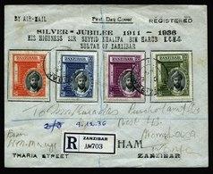 A6156) Zanzibar Registered Cover 12/09/36 To Kenya - Zanzibar (...-1963)