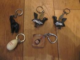 5 Porte Clés Bourbon Cognac Courvoisier Oeuf Lustucru The éléphant Chocolat La Pie Qui Chante X 2 - Key-rings