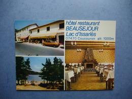 LAC D'ISSARLES    -  07  -  Hôtel Restaurant Beauséjour  -  Coucouron    -  ARDECHE - Francia