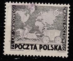 POLAND POLSKA 1950 GROSZY OVPT Mi.636 USED STAMP - Oblitérés
