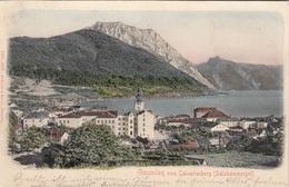 GMUNDEN (OÖ) Vom Calvarienberg, Reliefkarte Gel.1908, Bahnpost - Croazia