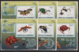 Comores - 2009 - KLB N°Yv. 1423 à 1428 - Coléoptères - Non Dentelé / Imperf. - Neuf Luxe ** / MNH / Postfrisch - Insectes