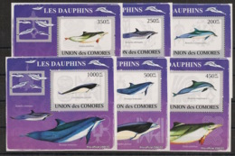 Comores - 2009 - KLB N°Yv. 1459 à 1464 - Dauphins - Neuf Luxe ** / MNH / Postfrisch - Dauphins