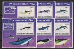 Comores - 2009 - KLB N°Yv. 1459 à 1464 - Dauphins - Non Dentelé / Imperf. - Neuf Luxe ** / MNH / Postfrisch - Dauphins