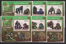 Comores - 2009 - KLB N°Yv. 1471 à 1476 - Gorilles - Neuf Luxe ** / MNH / Postfrisch - Gorilles
