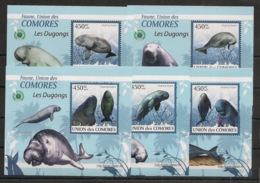 Comores - 2009 - KLB N°Yv. 1631 à 1635 - Dugong - Neuf Luxe ** / MNH / Postfrisch - Mammifères Marins