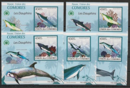 Comores - 2009 - KLB N°Yv. 1656 à 1660 - Dauphins - Non Dentelé / Imperf. - Neuf Luxe ** / MNH / Postfrisch - Dauphins