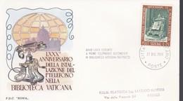 VATICANO - Ann. Spec. - 1966 - 35° Dell'installazione Del 1° Telefono Biblioteca Vaticana. - Vatican