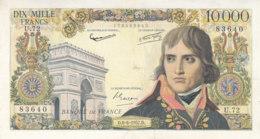 Billet 10000 F Bonaprte Du 6-6-1957 FAY 51.08 Alph. U.72 - 10 000 F 1955-1958 ''Bonaparte''
