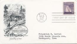 USA FDC 1957 - Schmuck-Brief Mit Stempel Bath - Ersttagsbelege (FDC)
