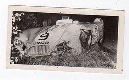 Avr19   84578     Photo 24 H Du Mans 1954 Voiture Accidentée    Pub Biscottes Dreux Le Mans - Le Mans