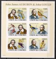 Comores - 2009 - N°Yv. 1315 à 1320 - Audubon - Non Dentelé / Imperf. - Neuf Luxe ** / MNH / Postfrisch - Vögel
