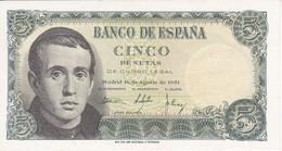 BILLETE DE ESPAÑA DE 5 PTAS DEL 16/08/1951 SERIE E (SIN CIRCULAR-UNCIRCULATED)    (BANKNOTE) - [ 3] 1936-1975 : Régimen De Franco