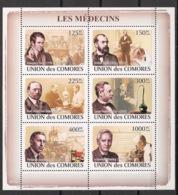 Comores - 2009 - N°Yv. 1375 à 1380 - Médecins - Neuf Luxe ** / MNH / Postfrisch - Medicina