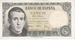 BILLETE DE ESPAÑA DE 5 PTAS DEL 16/08/1951 SERIE N EN CALIDAD EBC  (XF)    (BANKNOTE) - [ 3] 1936-1975 : Régimen De Franco