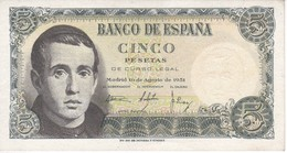 BILLETE DE ESPAÑA DE 5 PTAS DEL 16/08/1951 SERIE P EN CALIDAD EBC  (XF)    (BANKNOTE) - [ 3] 1936-1975 : Régimen De Franco
