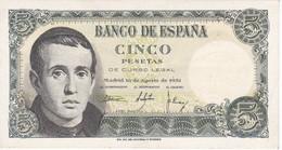 BILLETE DE ESPAÑA DE 5 PTAS DEL 16/08/1951 SERIE V EN CALIDAD EBC  (XF)    (BANKNOTE) - [ 3] 1936-1975 : Régimen De Franco