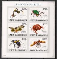 Comores - 2009 - N°Yv. 1423 à 1428 - Coléoptères - Non Dentelé / Imperf. - Neuf Luxe ** / MNH / Postfrisch - Insectes