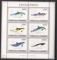 Comores - 2009 - N°Yv. 1459 à 1464 - Dauphins - Neuf Luxe ** / MNH / Postfrisch - Dauphins
